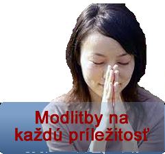Modlitby k rôznym príležitostiam